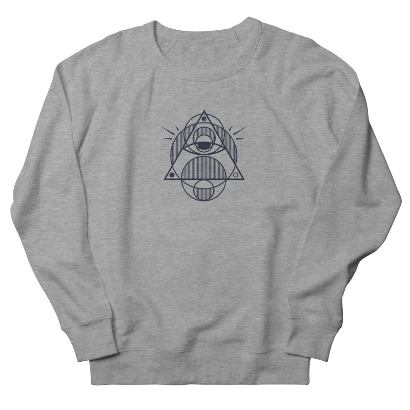 Omnipotent (The All Seeing Geometric Pyramid Eye) Men's French Terry Sweatshirt by evanluza's Artist Shop