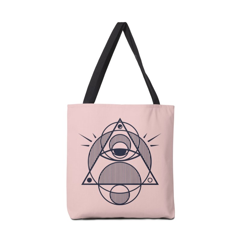 Omnipotent (The All Seeing Geometric Pyramid Eye) Accessories Bag by evanluza's Artist Shop