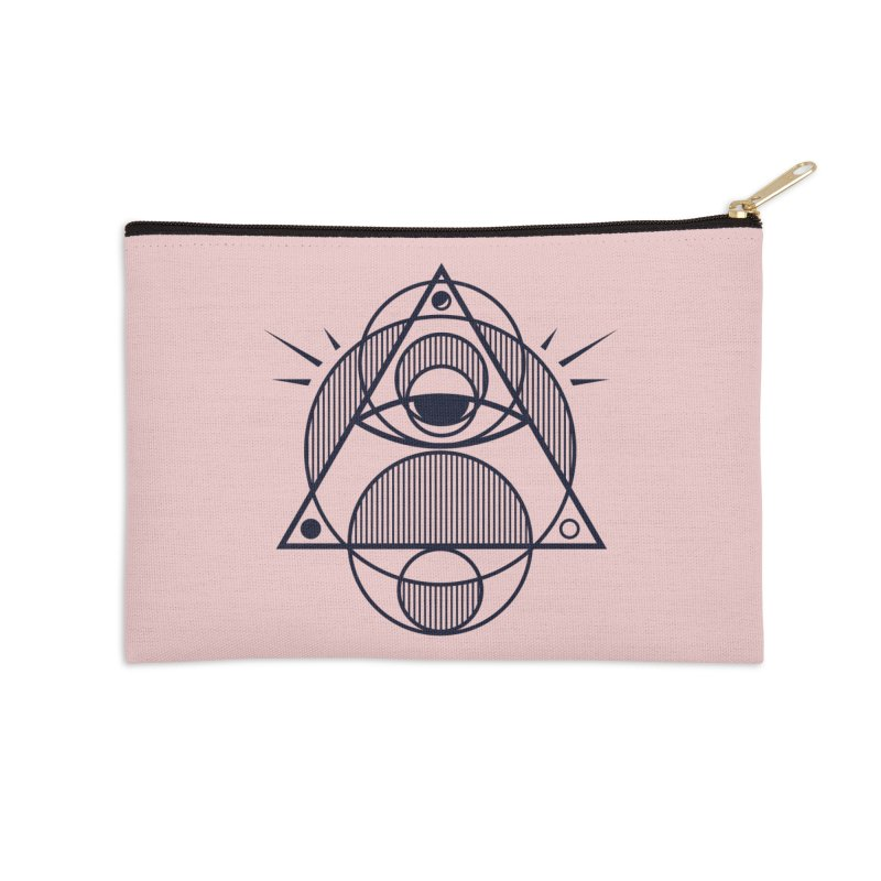 Omnipotent (The All Seeing Geometric Pyramid Eye) Accessories Zip Pouch by evanluza's Artist Shop