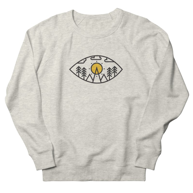 Awake (Geometric Nature Vision) Men's French Terry Sweatshirt by evanluza's Artist Shop
