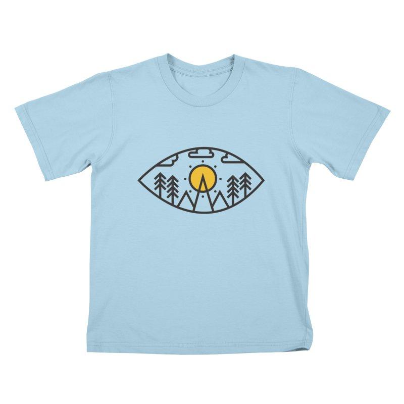 Awake (Geometric Nature Vision) Kids T-Shirt by evanluza's Artist Shop