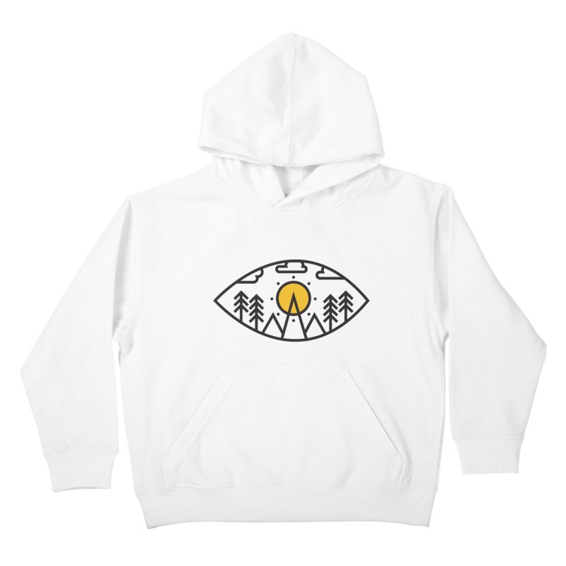 Awake (Geometric Nature Vision) Kids Pullover Hoody by evanluza's Artist Shop