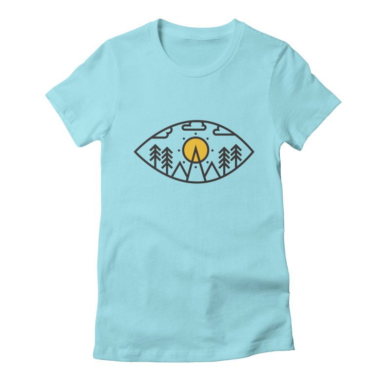 Awake (Geometric Nature Vision) Women's Fitted T-Shirt by evanluza's Artist Shop