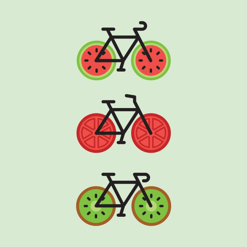 Fresh Wheels (A Healthy Bike Ride) by evanluza's Artist Shop