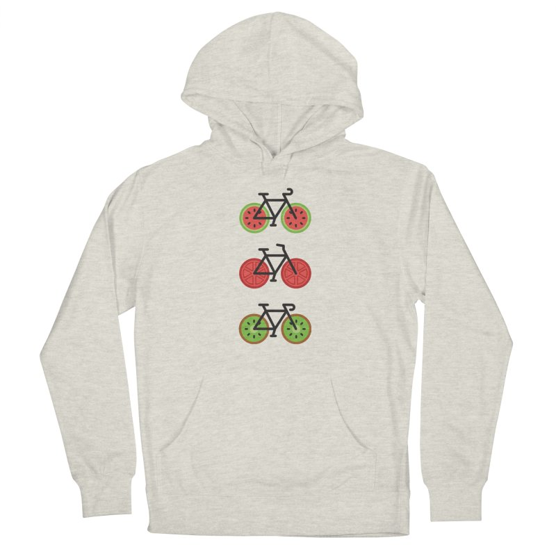 Fresh Wheels (A Healthy Bike Ride) Women's French Terry Pullover Hoody by evanluza's Artist Shop