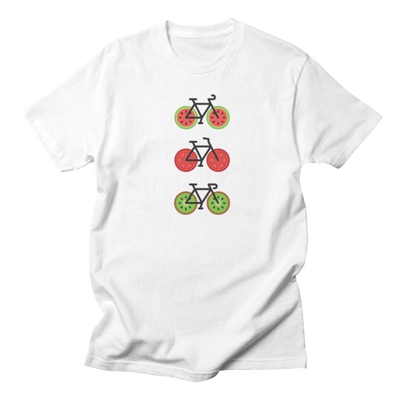 Fresh Wheels (A Healthy Bike Ride) Men's Regular T-Shirt by evanluza's Artist Shop