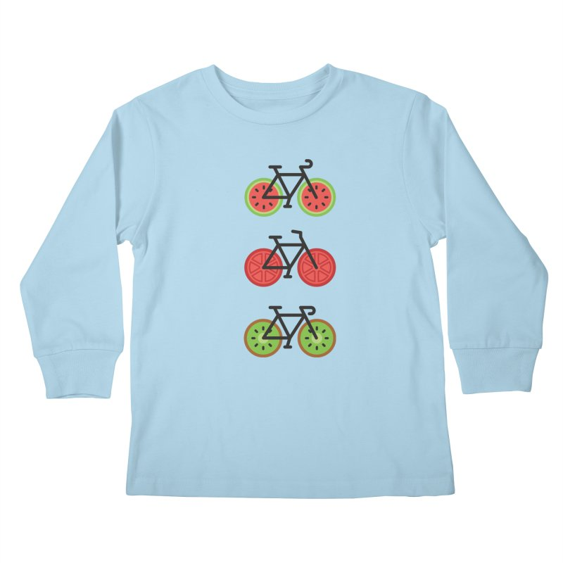 Fresh Wheels (A Healthy Bike Ride) Kids Longsleeve T-Shirt by evanluza's Artist Shop