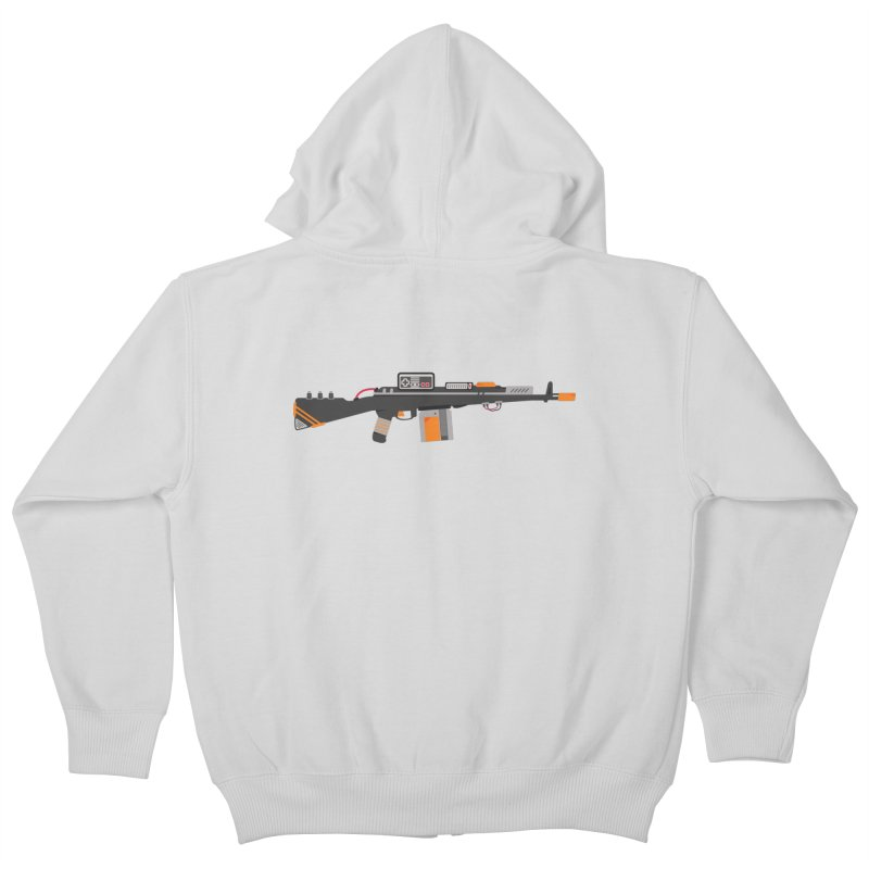 Noob Slayer (The Ultimate Gamer Weapon) Kids Zip-Up Hoody by evanluza's Artist Shop