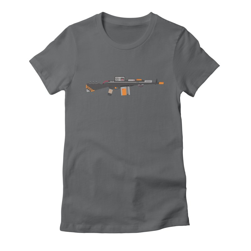 Noob Slayer (The Ultimate Gamer Weapon) Women's Fitted T-Shirt by evanluza's Artist Shop
