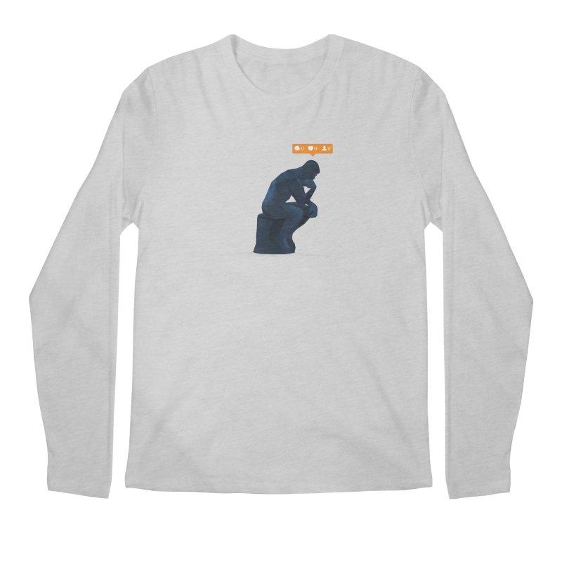21st Century Thinker (The Lonely Instagram User) Men's Longsleeve T-Shirt by evanluza's Artist Shop