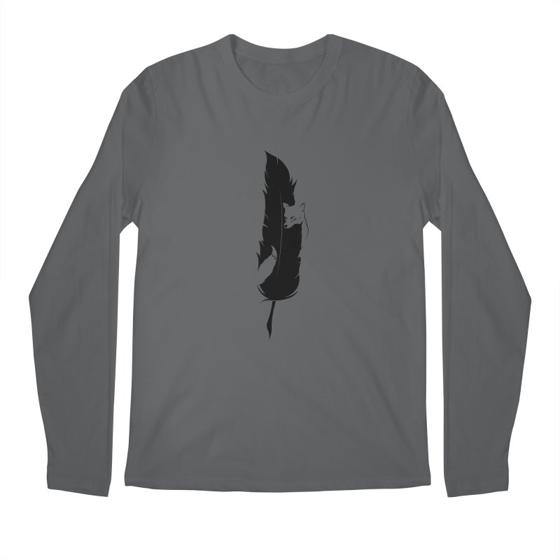 Sly  (The Fox and the Feather) Men's Regular Longsleeve T-Shirt by evanluza's Artist Shop