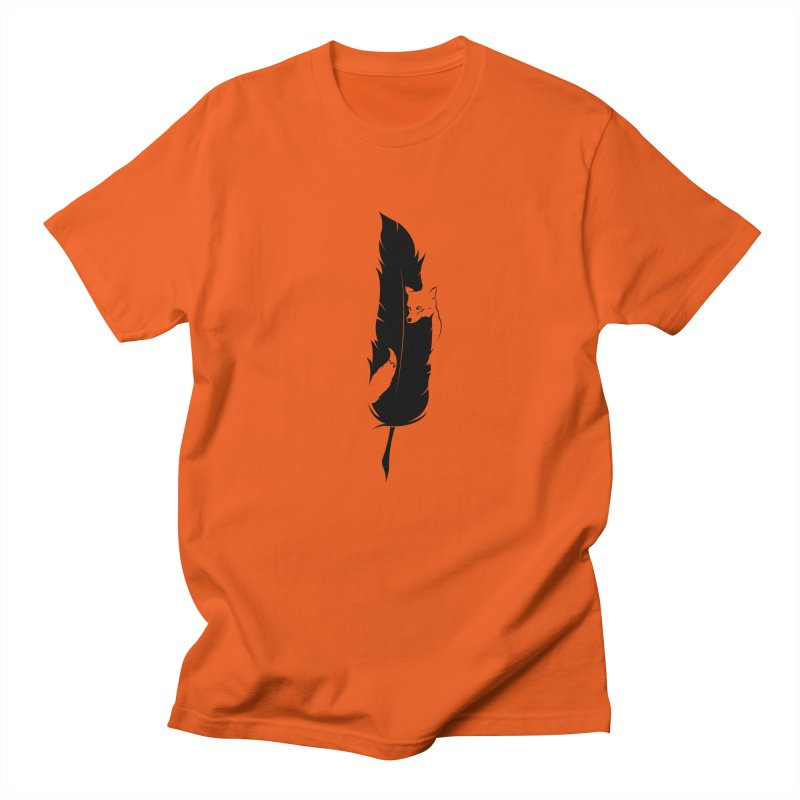 Sly  (The Fox and the Feather) Men's Regular T-Shirt by evanluza's Artist Shop
