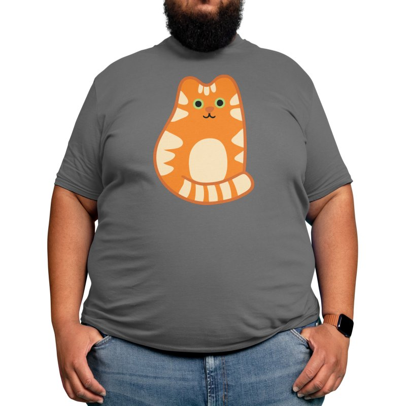 Ginger Orange Tabby Cute Cat Men's T-Shirt by Evannave's Artist Shop