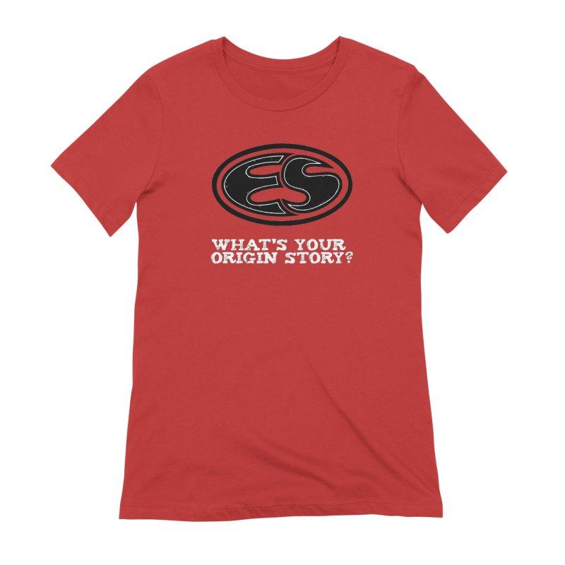 Origin Story Women's Extra Soft T-Shirt by Everyday Superhero Training Gear