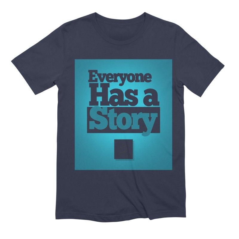 Everyone Has A Story Logo Men's Extra Soft T-Shirt by everyonehasastory's Artist Shop
