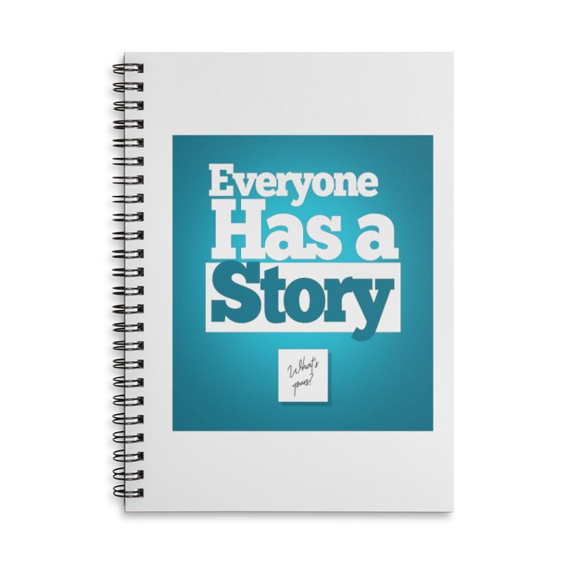 Everyone Has A Story Logo Accessories Lined Spiral Notebook by everyonehasastory's Artist Shop