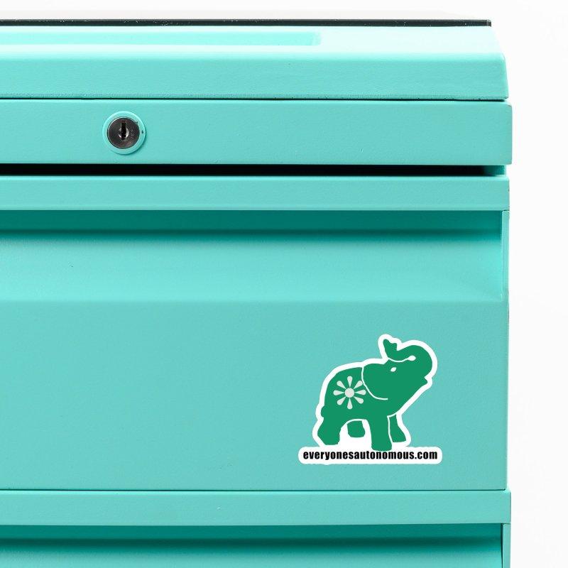 Green Elephant w/Website Accessories Magnet by Everyone's Autonomous' Artist Shop