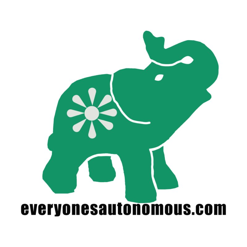 Green Elephant w/Website Men's T-Shirt by Everyone's Autonomous' Artist Shop