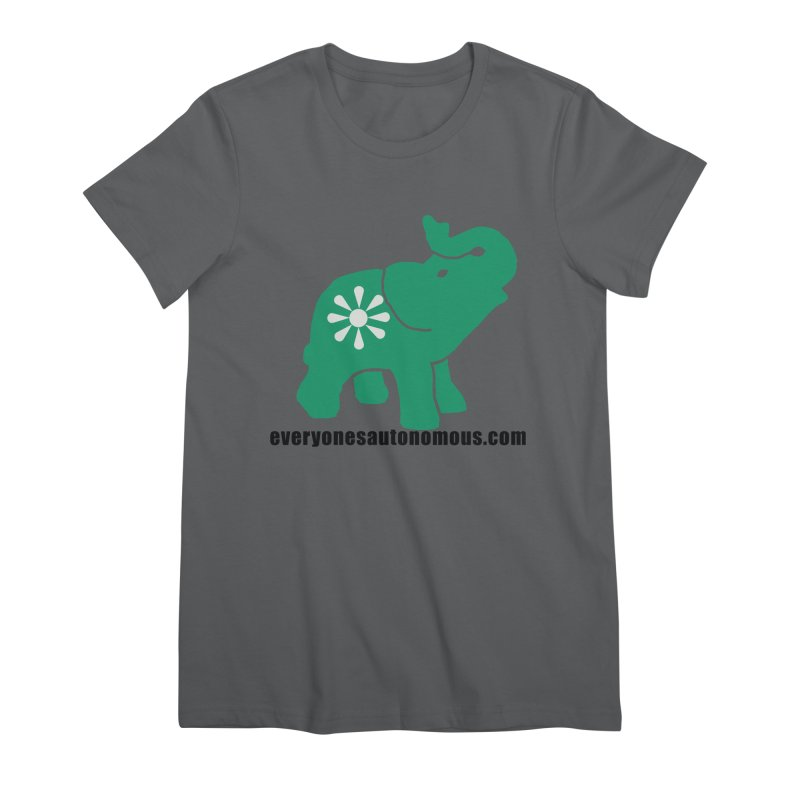 Green Elephant w/Website Women's Premium T-Shirt by everyonesautonomous's Artist Shop