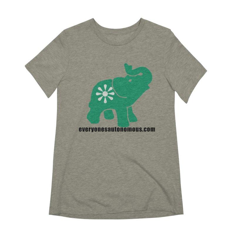 Green Elephant w/Website Women's Extra Soft T-Shirt by everyonesautonomous's Artist Shop