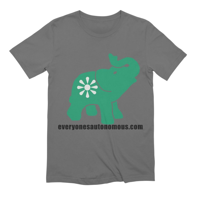 Green Elephant w/Website Men's Extra Soft T-Shirt by everyonesautonomous's Artist Shop