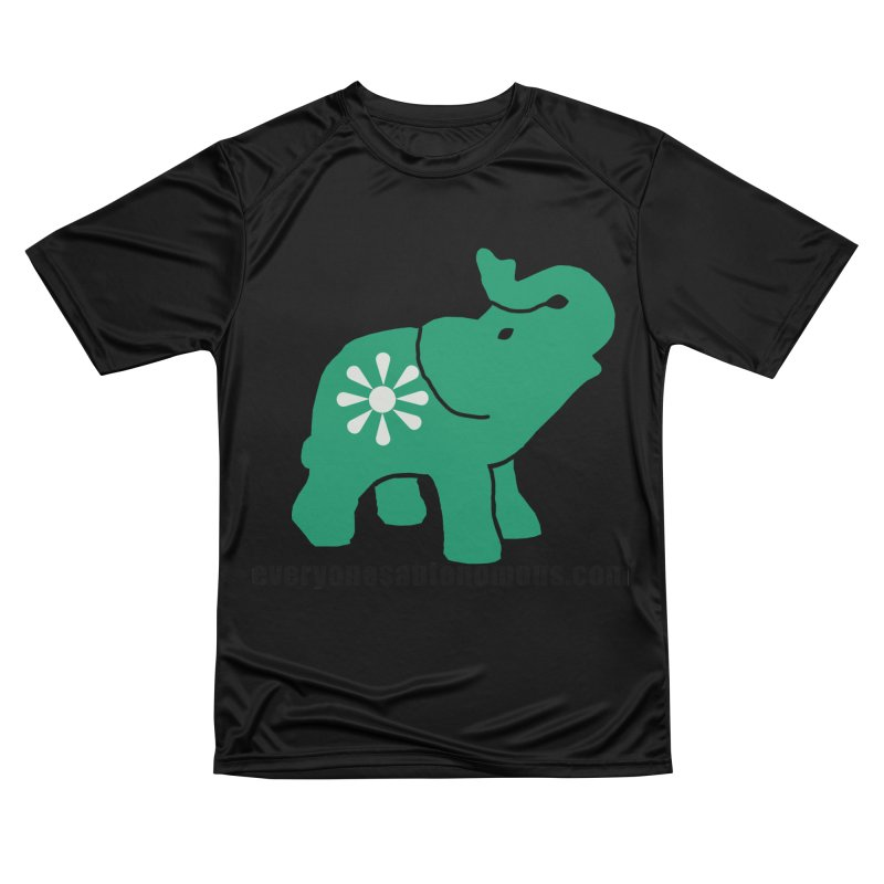 Green Elephant w/Website Men's Performance T-Shirt by everyonesautonomous's Artist Shop