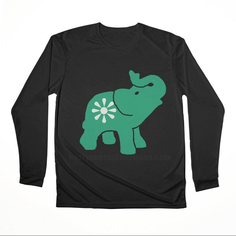 Green Elephant w/Website Women's Performance Unisex Longsleeve T-Shirt by everyonesautonomous's Artist Shop