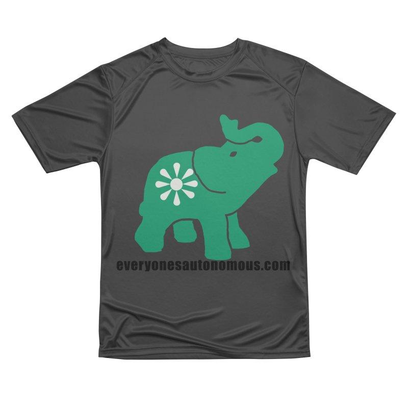Green Elephant w/Website Women's Performance Unisex T-Shirt by everyonesautonomous's Artist Shop