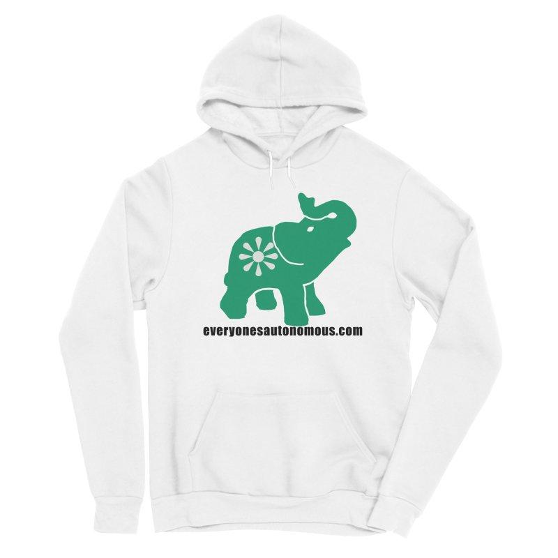 Green Elephant w/Website Women's Pullover Hoody by Everyone's Autonomous' Artist Shop