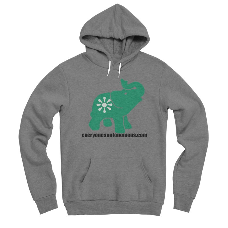 Green Elephant w/Website Men's Sponge Fleece Pullover Hoody by everyonesautonomous's Artist Shop