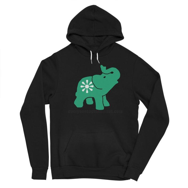 Green Elephant w/Website Women's Sponge Fleece Pullover Hoody by everyonesautonomous's Artist Shop