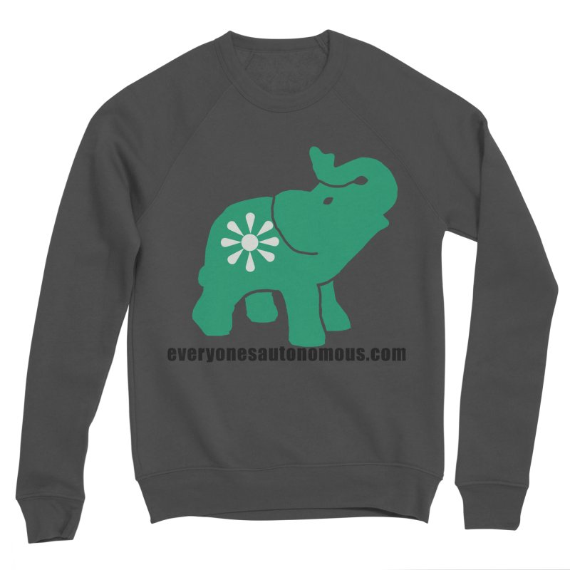 Green Elephant w/Website Women's Sponge Fleece Sweatshirt by everyonesautonomous's Artist Shop