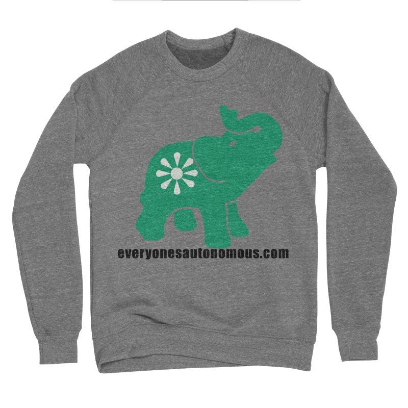 Green Elephant w/Website Men's Sponge Fleece Sweatshirt by everyonesautonomous's Artist Shop