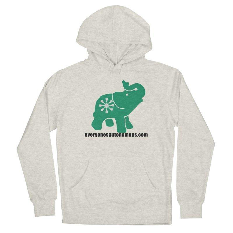 Green Elephant w/Website Men's Pullover Hoody by Everyone's Autonomous' Artist Shop