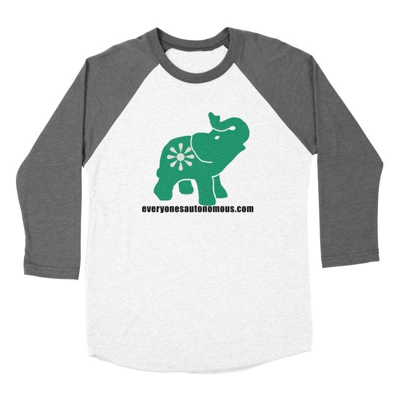 Green Elephant w/Website Women's Longsleeve T-Shirt by Everyone's Autonomous' Artist Shop