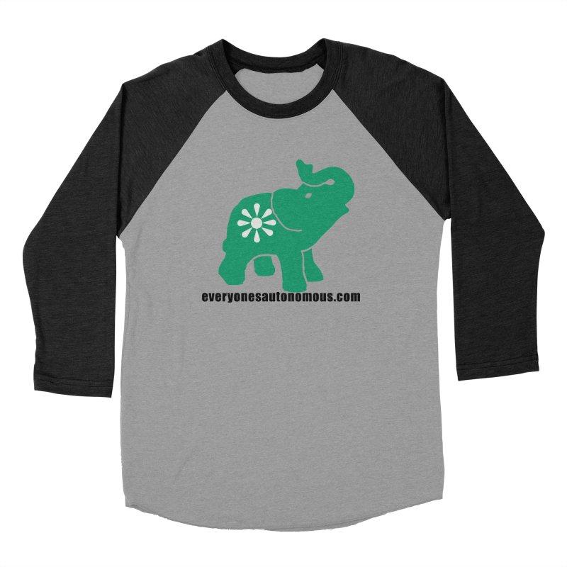 Green Elephant w/Website Men's Baseball Triblend Longsleeve T-Shirt by everyonesautonomous's Artist Shop