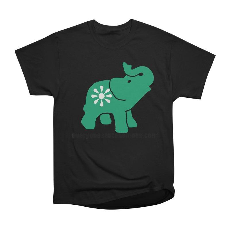 Green Elephant w/Website Women's Heavyweight Unisex T-Shirt by everyonesautonomous's Artist Shop