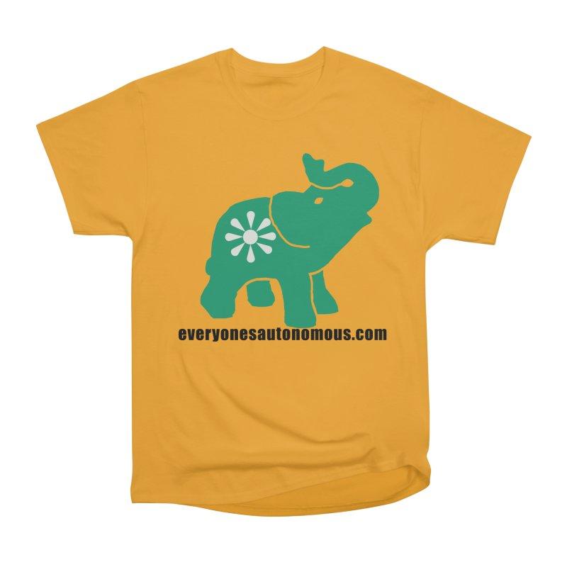 Green Elephant w/Website Men's Heavyweight T-Shirt by everyonesautonomous's Artist Shop