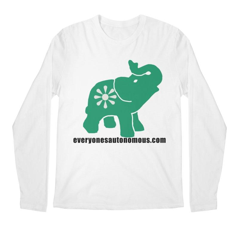 Green Elephant w/Website Men's Regular Longsleeve T-Shirt by everyonesautonomous's Artist Shop