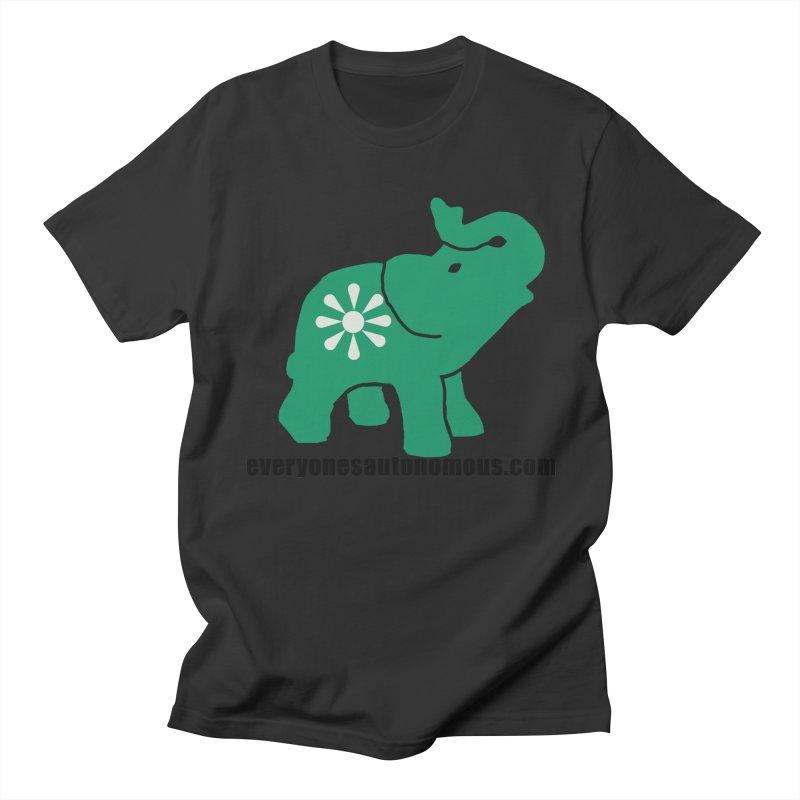 Green Elephant w/Website Women's Regular Unisex T-Shirt by everyonesautonomous's Artist Shop