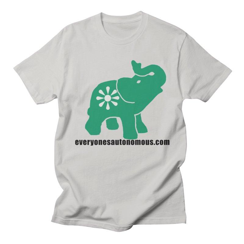 Green Elephant w/Website Men's Regular T-Shirt by everyonesautonomous's Artist Shop