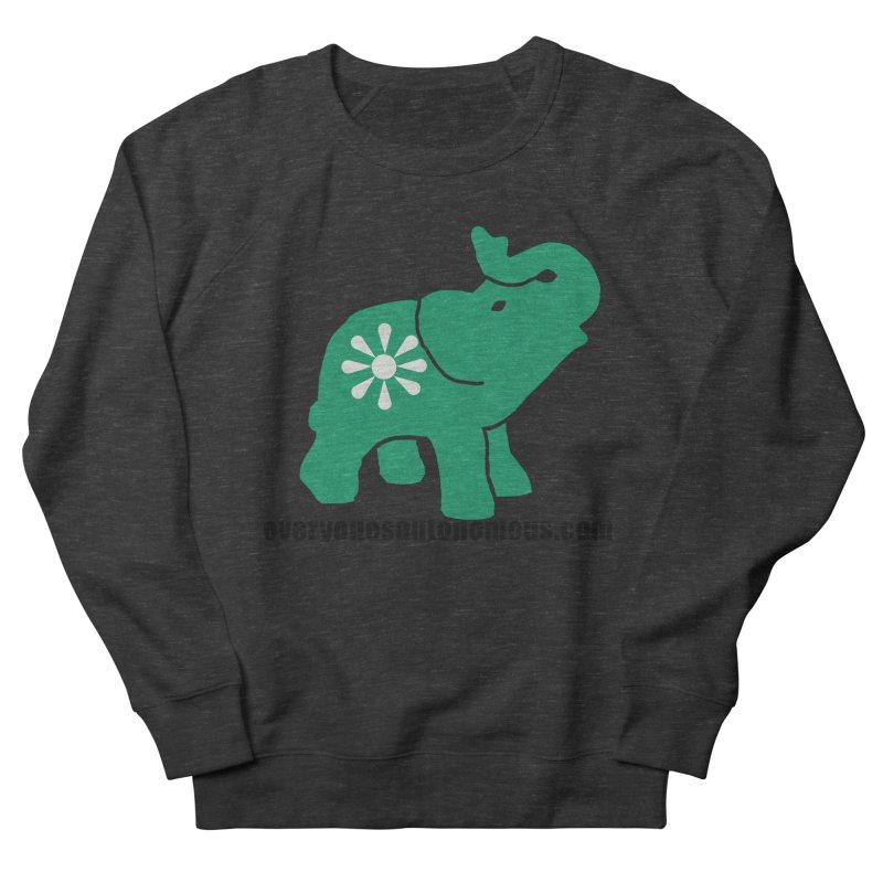 Green Elephant w/Website Women's Sweatshirt by Everyone's Autonomous' Artist Shop