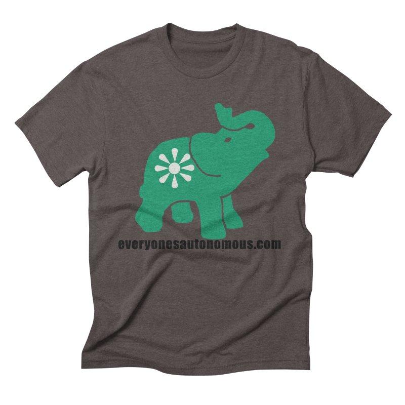Green Elephant w/Website Men's Triblend T-Shirt by everyonesautonomous's Artist Shop