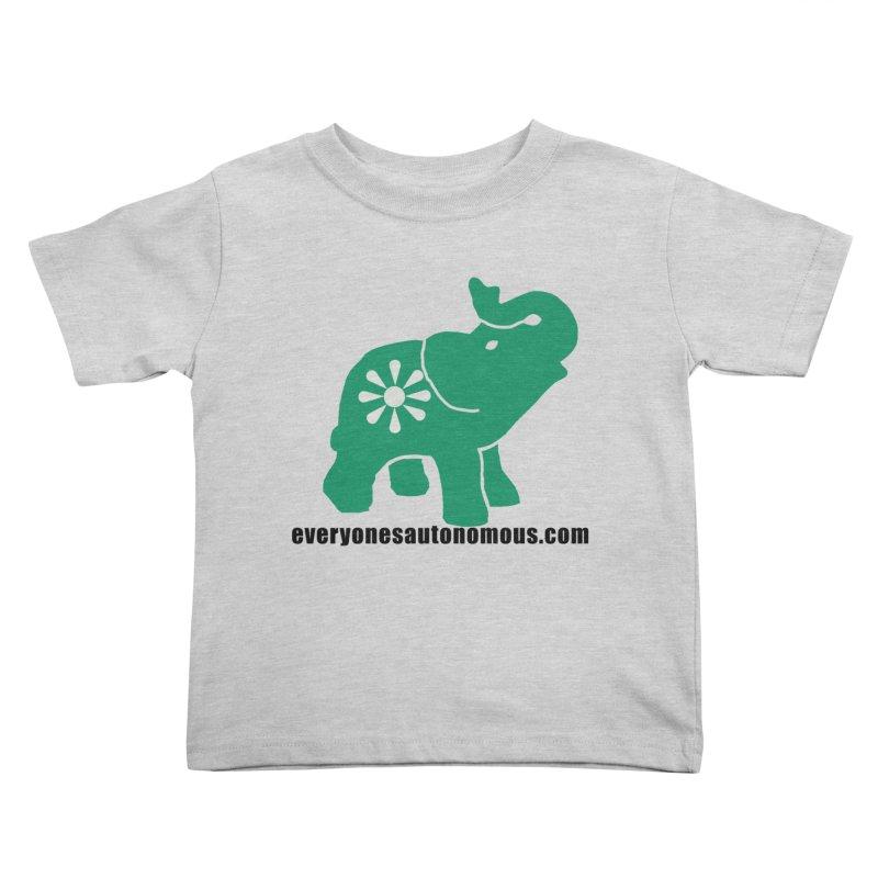 Green Elephant w/Website Kids Toddler T-Shirt by everyonesautonomous's Artist Shop
