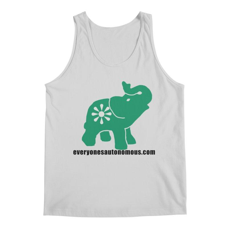 Green Elephant w/Website Men's Regular Tank by everyonesautonomous's Artist Shop