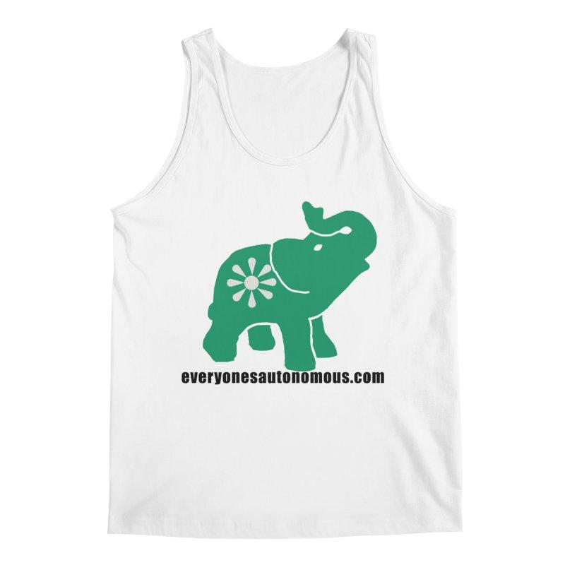 Green Elephant w/Website Men's Tank by everyonesautonomous's Artist Shop