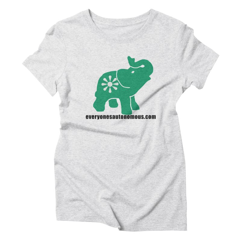 Green Elephant w/Website Women's Triblend T-Shirt by everyonesautonomous's Artist Shop