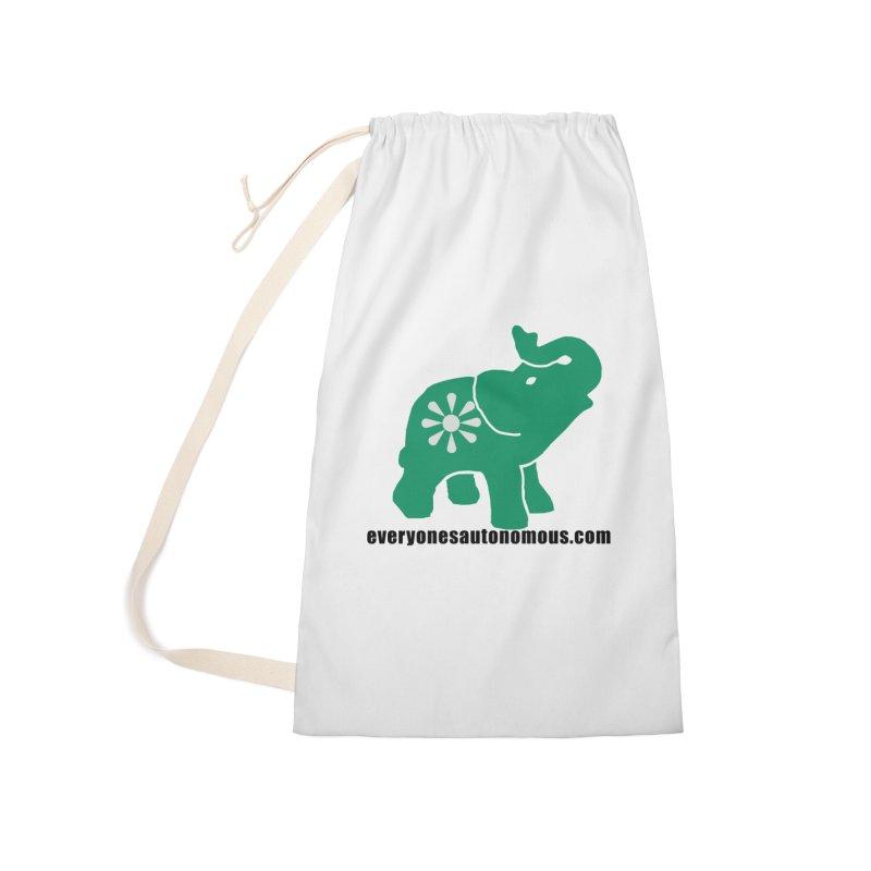 Green Elephant w/Website Accessories Bag by Everyone's Autonomous' Artist Shop