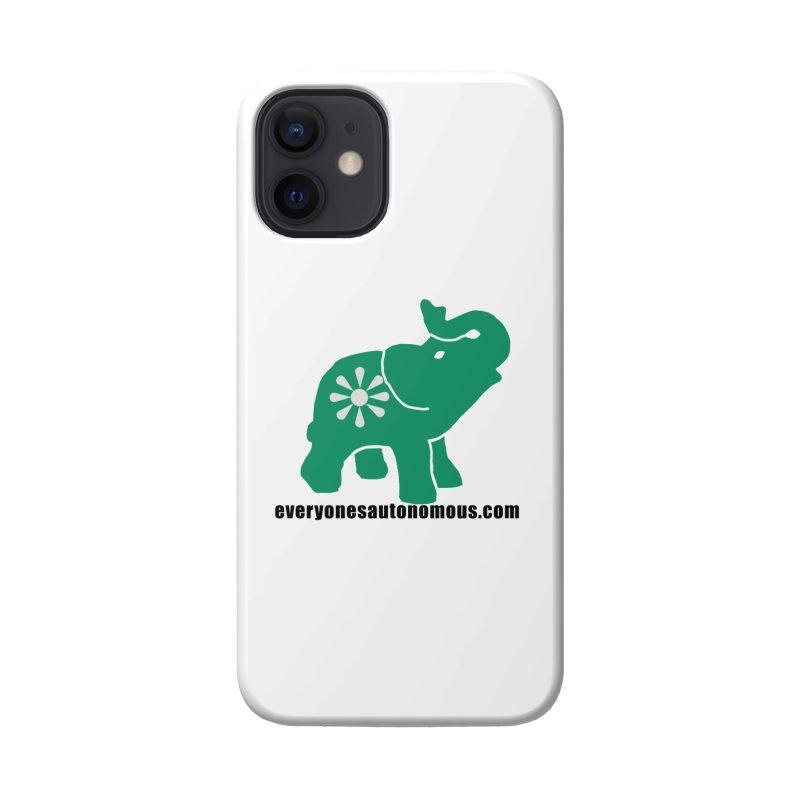 Green Elephant w/Website Accessories Phone Case by Everyone's Autonomous' Artist Shop