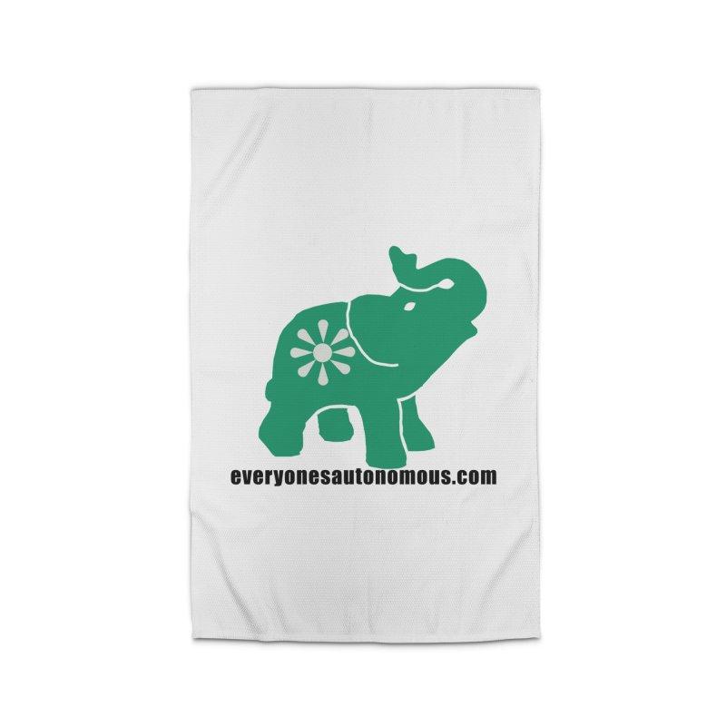 Green Elephant w/Website Home Rug by everyonesautonomous's Artist Shop